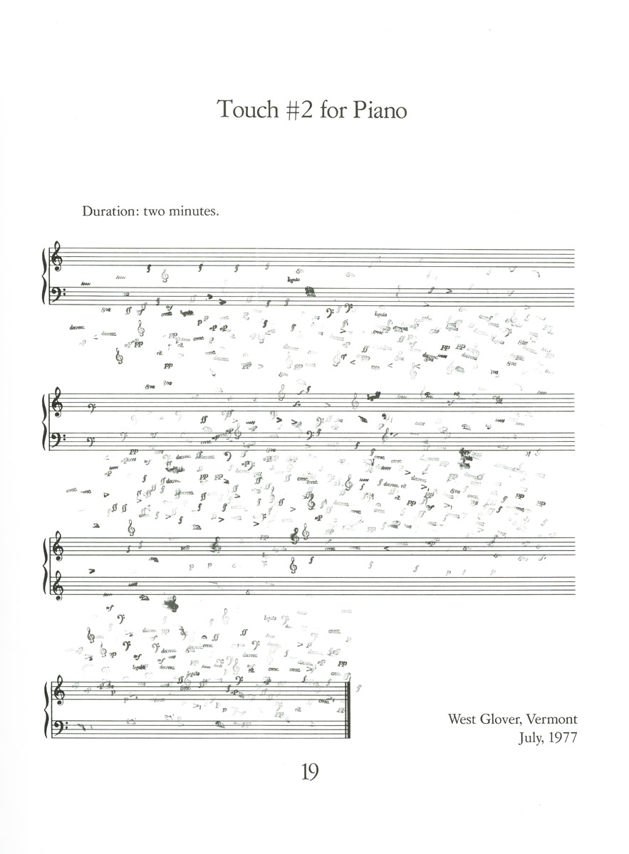 FONDAZIONE BONOTTO - Higgins, Dick - Piano Album  Short