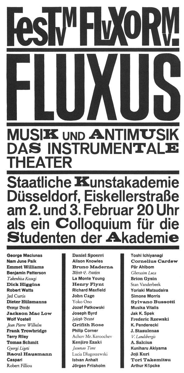 FONDAZIONE BONOTTO - Collective Fluxus - 1962/1965 International ...
