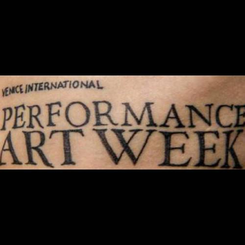 INTERNATIONAL PERFORMANCE ART WEEK.